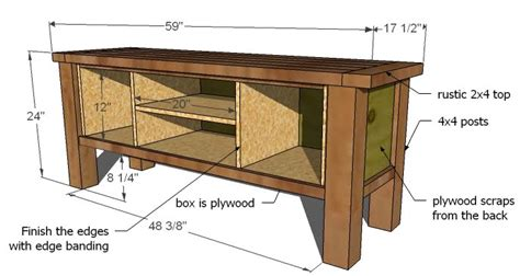 Media Cabinet Plans by Ana White Tryde Media Console Diy Projects