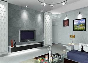 Interior living room design with TV wall