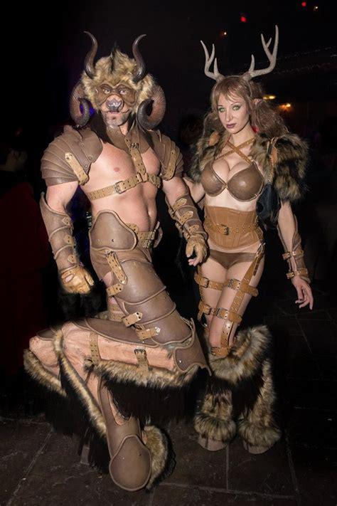 horror cosplay  celebrates punishment  krampus ball