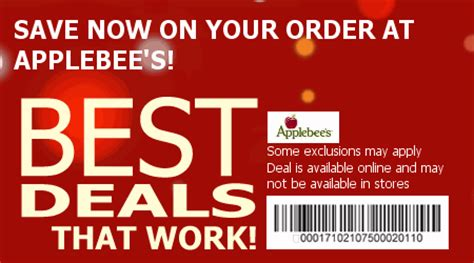 applebees coupons save   coupons coupons