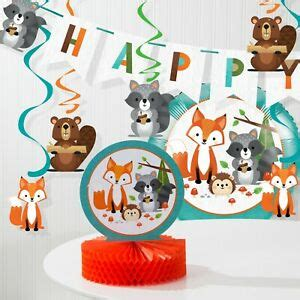 Wild One Woodland Birthday Decorations Kit
