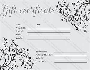 Gift Certificate Template | Print Paper Templates
