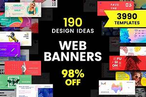 Web Banner Design Templates Bundle Sale