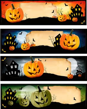 You can mix and match your own paper colors and patterns to create halloween decor with your own. Halloween frames and banners Free vector in Adobe ...