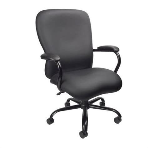 big chair in black plus fabric 350 lb capacity