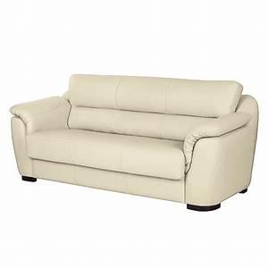 Sofa 3 Sitzer Mit Schlaffunktion : sofa alzira 3 sitzer kunstleder mit schlaffunktion ecru fredriks online kaufen bei woonio ~ Indierocktalk.com Haus und Dekorationen