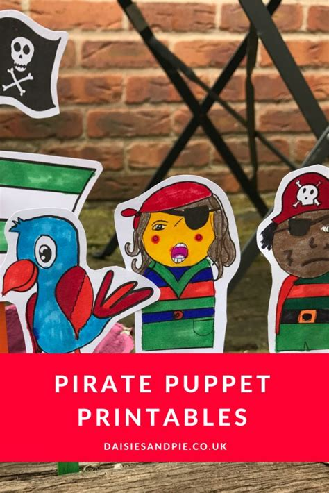 pirate puppet printables pirate crafts puppets  kids