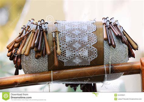 bobbin lace equipment stock image image  pillow