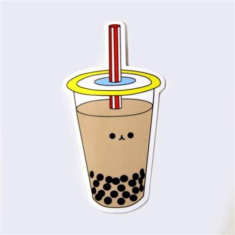 Putting the tea in boba tea. Giant Robot - Boba Bubble Tea Sticker - GiantRobotStore