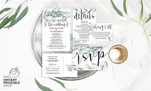 eucalyptus wedding invitation set watercolour wedding With wedding invitations with eucalyptus