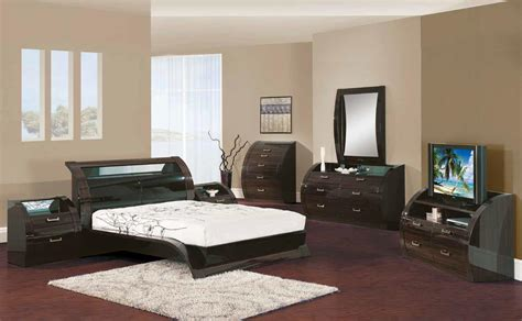 madison black zebrano pc king size modern bedroom set