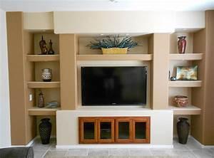 Custom Drywall Entertainment Centers