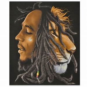 Bob Marley and The Conquering Lion of Judah Profile Fleece ...