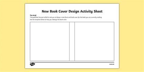 New Book Cover Design Worksheet  Activity Sheetirish