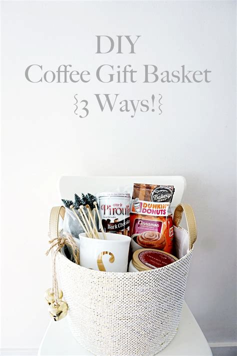 Gourmet coffee gift baskets are one of the more popular choices when trying to find a gift that ticks all of the boxes. DIY Coffee Gift Basket 3 Ways! - Belle Vie