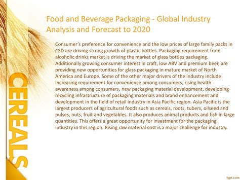 PPT - Food and Beverage Packaging Industry, 2020 Global ...