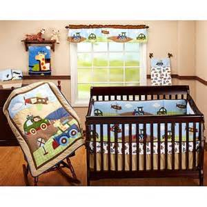 garanimals 4 piece crib bedding set travel time