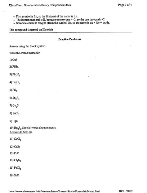 worksheets naming and formulas of ionic compounds