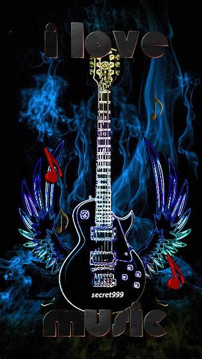 Guitar Gifs Guitars Animated Play Drawings Lovers