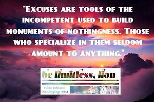"""Excuses are ... Incompetent Teacher Quotes"