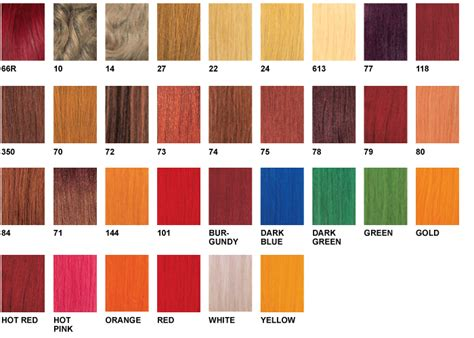 zury color charts