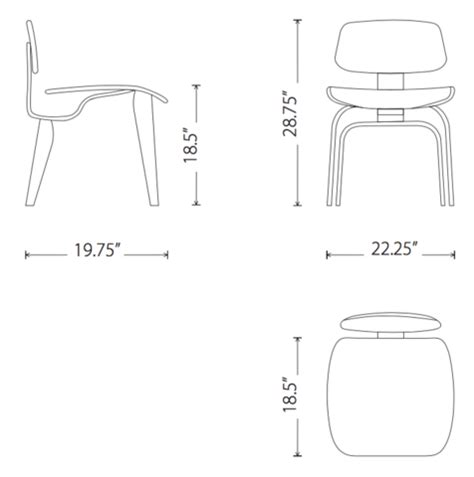 eames molded plywood dining chair style dcw kanvass