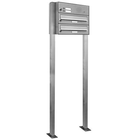 briefkasten freistehend edelstahl 2er premium edelstahl briefkasten standanlage freistehend
