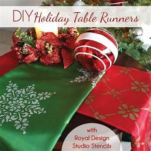 Easy Gift Idea Custom Stencil Holiday Table Runners