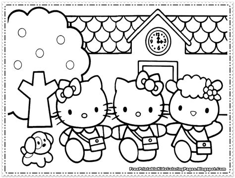 kitty coloring pages  girls  printable kids