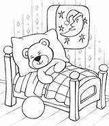 Teddy Bear Sleeping Coloring Ausmalbilder Sleep Desenhos Colorir Technosamrat Urso Printable Bears Konabeun Desenho Sleepover Pelucia Template Ursos برگه Pijama sketch template