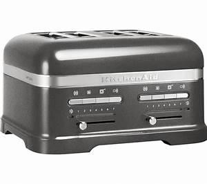 Kitchen Aid Toaster : buy kitchenaid 5kmt4205bms artisan 4 slice toaster silver free delivery currys ~ Yasmunasinghe.com Haus und Dekorationen
