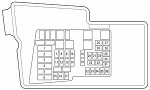 Mazda Cx-7  2009 - 2012  - Fuse Box Diagram