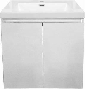 Meuble Sous Vasque 70 Cm : meuble sous vasque primeo 70 cm 2 portes suspendu blanc alterna ~ Teatrodelosmanantiales.com Idées de Décoration