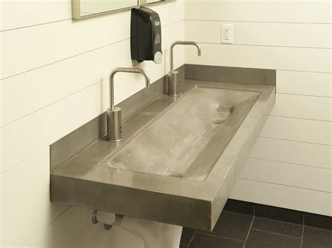 Amazing Trough Sinks Bathroom #10 Concrete Bathroom Trough
