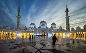 Sheikh Zayed Grand Mosque Centre Abu Dhabi Beautiful ...