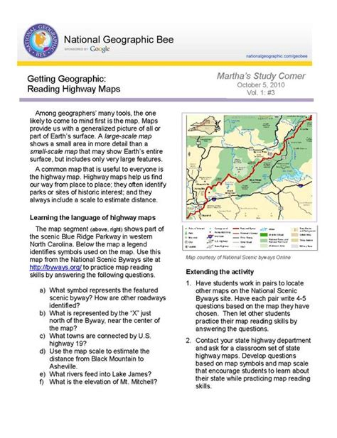 reading highway maps national geographic society