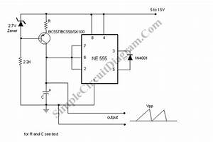 Sawtooth Wave Signal Generator Using 555 Ic