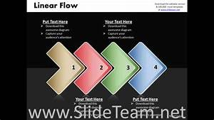Ppt Linear Process Flow Powerpoint Template 4 Phase