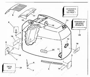 Johnson 1994 225 - J225pzark  Engine Cover 185