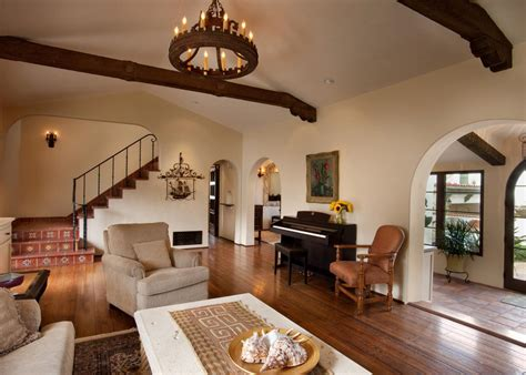 spanish colonial living room  open concept design hgtv