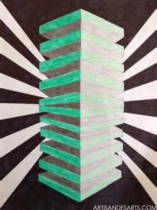 Square Optical Illusion Art