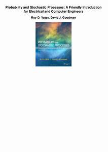 Applied Probability And Stochastic Processes Pdf