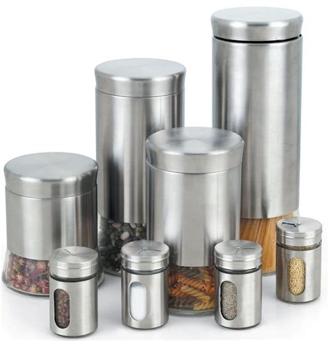 contemporary kitchen canisters 8 spice jar set contemporary kitchen canisters