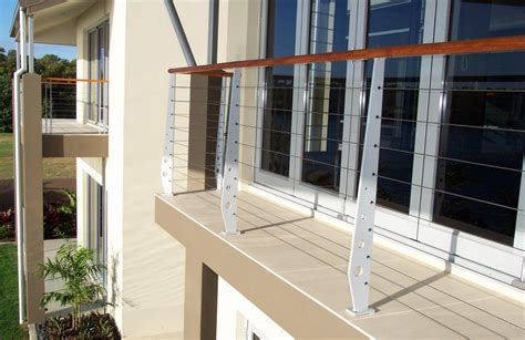 Stainless Steel Balcony Posts by Stainless And Wire Balustrade A Grade Aluminium