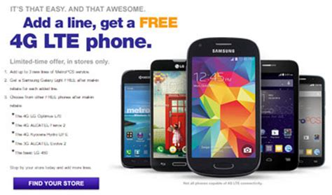 metro pcs free phone metropcs gives free 4g lte phone for each added line