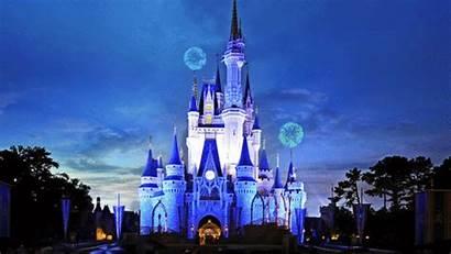 Disney Castle Walt Earth Fireworks Vacation Happiest
