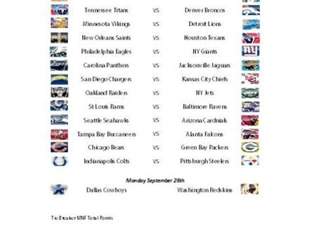 Nfl Office Football Pool Sheets by Weekly Nfl Office Em Pool Fiverr