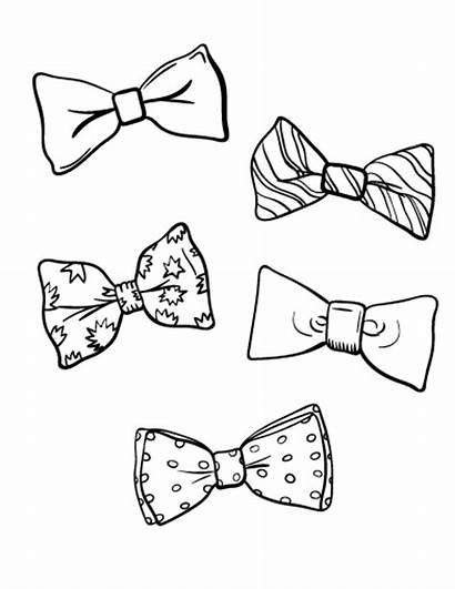 Coloring Bow Tie Pages Template Printable Birthday