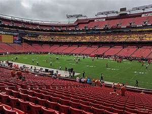 Redskins Seating Chart View Section 118 At Fedexfield Rateyourseats Com