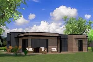 plan maison ossature bois toit plat toit terrasse With plan de maison cubique 3 maison bois cubique 224 toit plat nos maisons ossatures bois